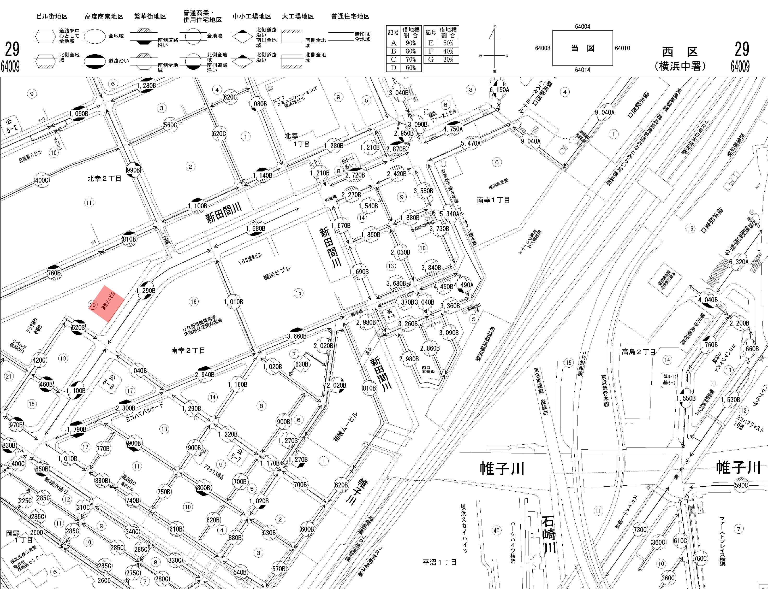 地図から場所を特定