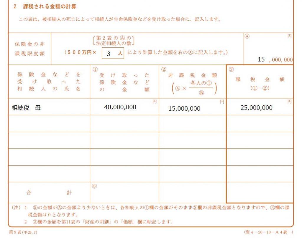 課税金額の計算