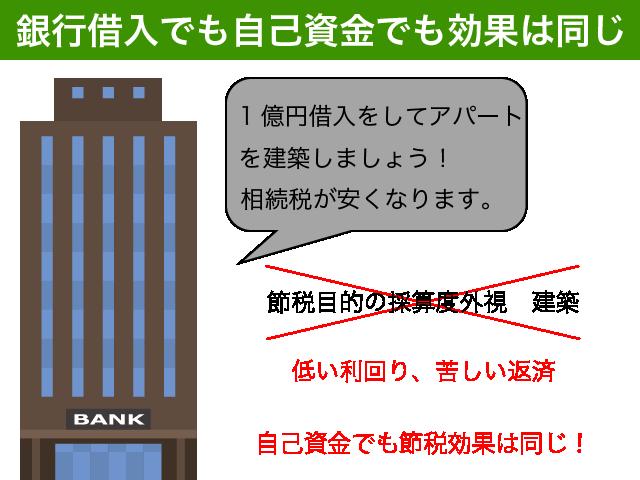 銀行借入も自己資金も効果は同じ